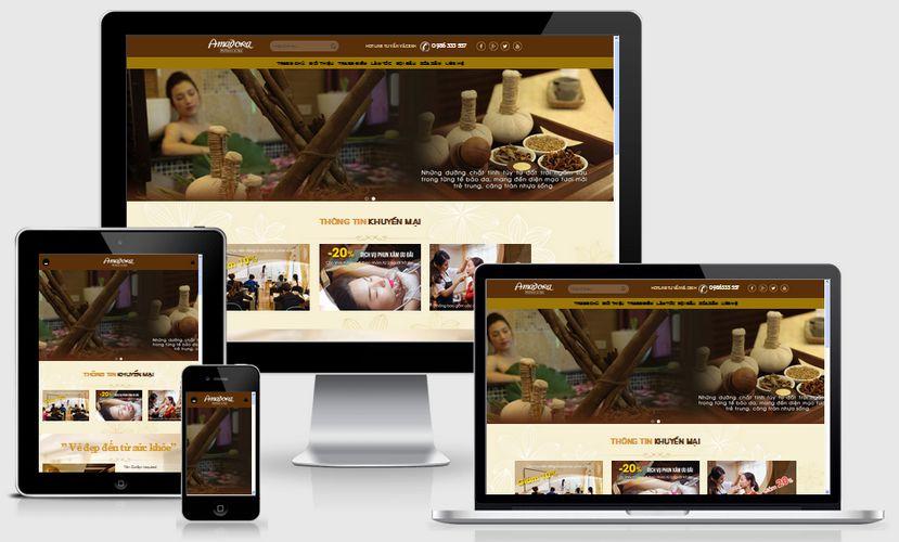 Thiết kế website làm đẹp spa tại Hà Nam chuẩn SEO giá rẻ